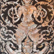 Old Thai art made from pearl on the door of Thai church,Thailand — Stock Photo