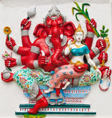 Indian or Hindu ganesha God Named Uddanda Ganapati at temple in — Stock Photo