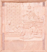 Native Thai art on low relief sculpture — Photo