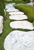 Stone walkway in the park — Stock Photo