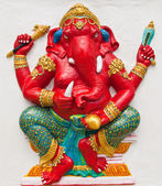 Indian or Hindu ganesha God Named Rinamo Ganapati at temple in t — Stock Photo