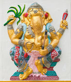 Indian or Hindu ganesha God Named Yoga Ganapati at temple in tha — Stock Photo