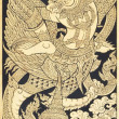 Old Thai style painting art in thai temple,Thailand. Generality — Stock Photo #32629075