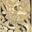Old Thai style painting art in thai temple,Thailand. Generality — Stock Photo