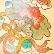 Art Chinese style painting on the wall in temple,Thailand.Genera — Stock Photo