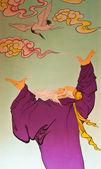 Konst kinesisk stil målning på väggen i temple,thailand.genera — Stockfoto