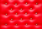 Red leather pattern with knobs,Texture for Background — Stock Photo