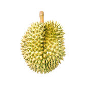 Durian isolated on white background,King of fruits in Thailand — Stock Photo