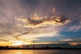 カラフルな夕日 — ストック写真