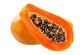 Papaia isolato su bianco — Foto Stock