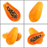 Papaya collection  — Stock Photo