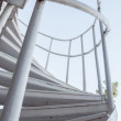 Stock Photo: White iron steps of spiral staircase