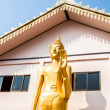 Standing bronze buddha image statue — Stock Photo