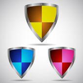 Sada symbolů ikony znaku zabezpečení — Stock vektor