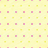 Simplicity dots on yellow pastel scribbled texture — Stock Vector