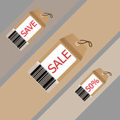 Price tag on recycle brown paper — Stock Vector