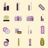 Set of cosmetic nude tone icons — Stock Vector