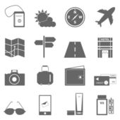 Travel icons on white background — Stock Vector