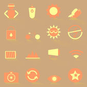 Photography color icons with shadow — Wektor stockowy