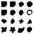 Set of corner lebel icons — Stockvectorbeeld