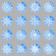 Create snowflake icons on button — Stock Vector