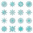 Create snowflake icons with shadow — Stock Vector