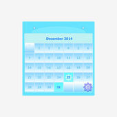 Design schedule monthly december 2014 calendar — Stock Vector
