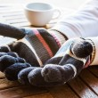 Warmly hands in wool gloves — Stock Photo #38470969