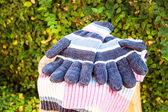 Knit wool gloves and scarf — Zdjęcie stockowe