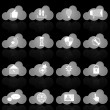 Stock Vector: Social network icons on cloud shape with reflect