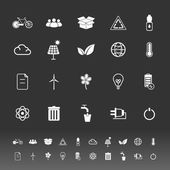 Ecology icons on gray background — Cтоковый вектор