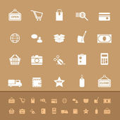 Set of shopping color icons — Stock Vector