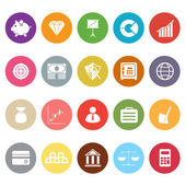 Finance flat icons on white background — Stock Vector