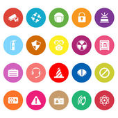 Safety flat icons on white background — Vector de stock