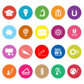 Education flat icons on white background — Stock Vector