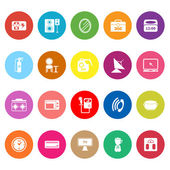 House related flat icons on white background — Stock Vector