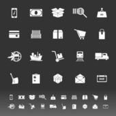Shipment icons on gray background — Stock Photo