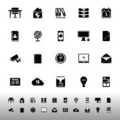 Home office icons on white background — 图库矢量图片