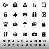 Home storage icons on white background — Vettoriale Stock