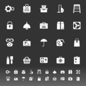 Home storage icons on gray background — ストックベクタ