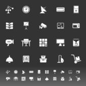 General office icons on gray background — Stock Vector
