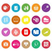 ícones plana de passatempo em fundo branco — Vetor de Stock
