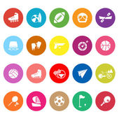 Extreme sport flat icons on white background — Stock Vector
