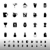 Variety drink icons on white background — Wektor stockowy
