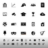 General online icons on white background — Vettoriale Stock