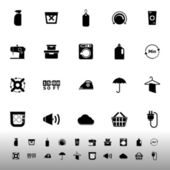 Laundry related icons on white background — Stockvector