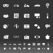 Favorite and like icons on gray background — Stockvektor