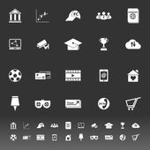 General online icons on gray background — Stock vektor