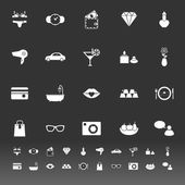 Lady related item icons on gray background — Cтоковый вектор