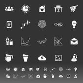 Virtual organization icons on gray background — Wektor stockowy